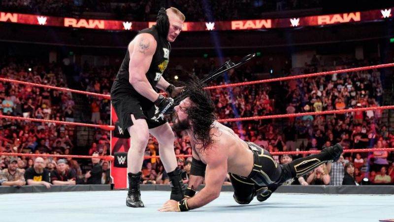 Lesnar was in a destructive mood on RAW