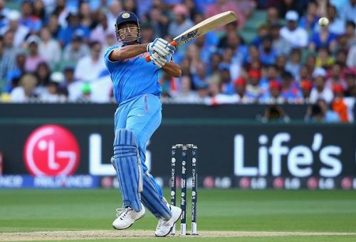 Mahendra Singh Dhoni in action.