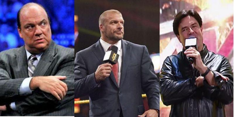 Heyman, Triple H, and Bischoff