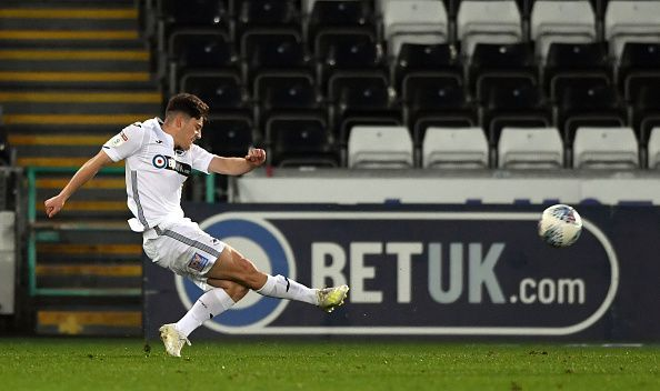 James recorded decent stats playing for Swansea City in the Championship last season