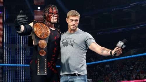 Kane and Edge are the best of buddies behind the scenes, and sometimes on-screen too!