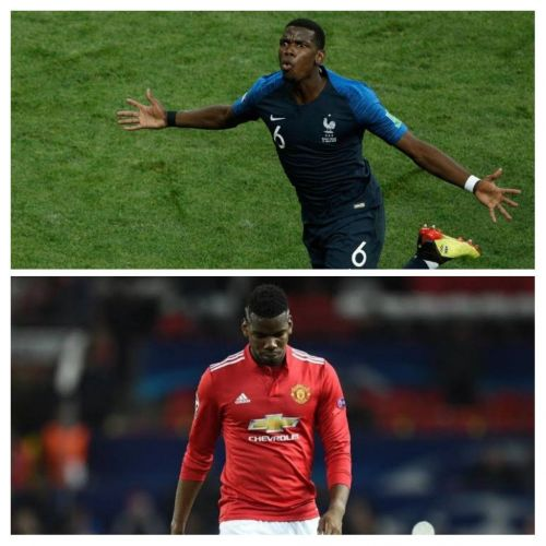 Pogba has flattered to deceive in 'red' as against in'blue'