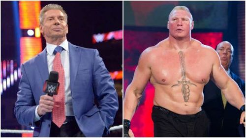 Image result for vince mcmahon and brock lesnar