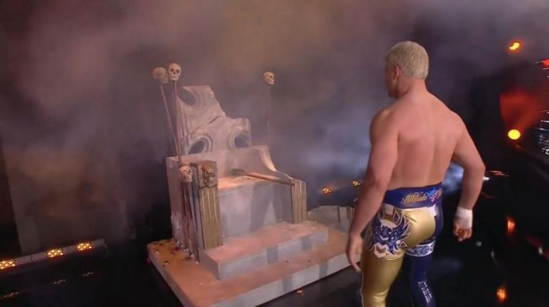 Cody Rhodes sent a message to WWE by breaking a replica of Triple H