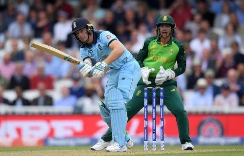 Jos Buttler batting against South Africa
