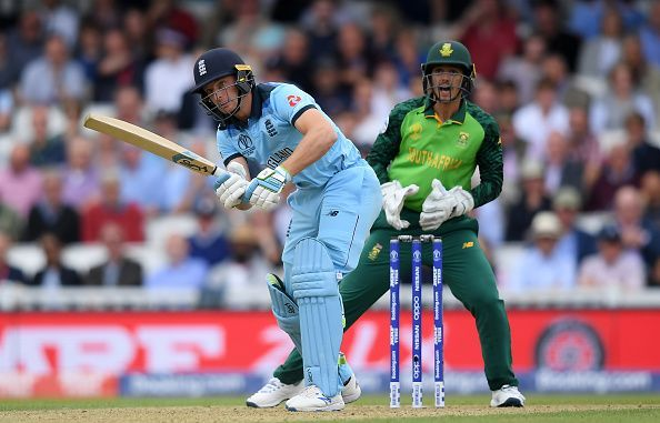 Jos Buttler batting against South Africa
