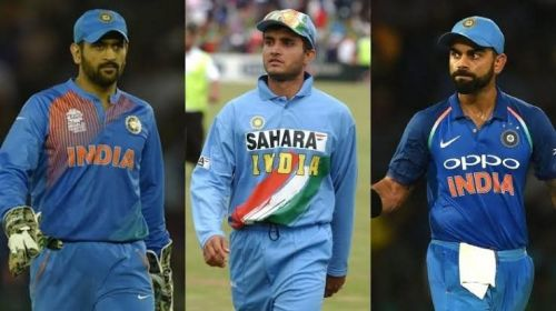 MS Dhoni, Sourav Ganguly, Virat Kohli- The three most successful Indian skippers across formats.