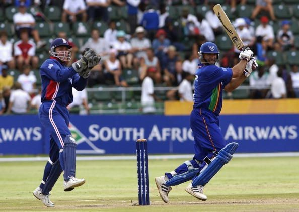 Daniel Keulder of Namibia in action