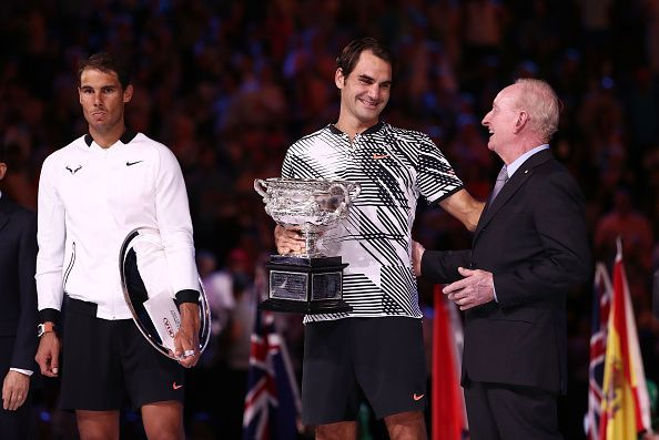 Roger Federer emerged victorious at the Rod Laver Arena in 2017, winning a grand slam title after almost five years.