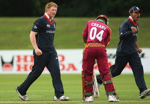 Ben Stokes during the 2010 World Cup