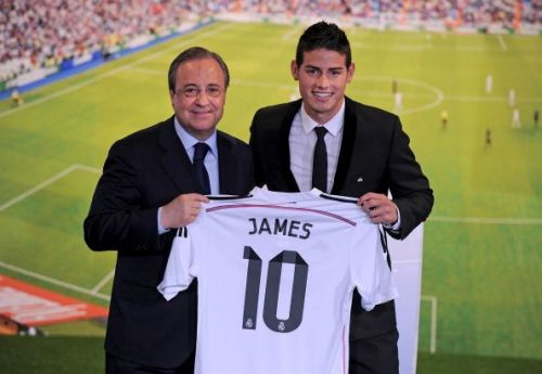En James Rodriguez officially unveiled at Real Madrid