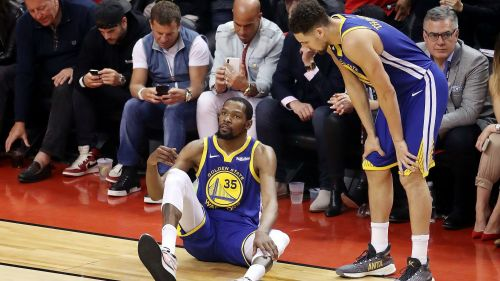 Putting his health on the line in doing so, the Warriors may have won the game to force a Game 6, but Durant would rupture two things: his Achilles and most likely the Knicks' opportunity to land him in the offseason.