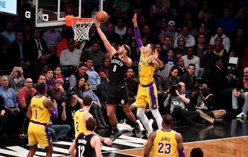 Dudley had one of his most notable games with the Brooklyn Nets in a victory versus the Lakers