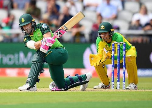 Faf du Plessis in action against Australia in the 2019 World Cup