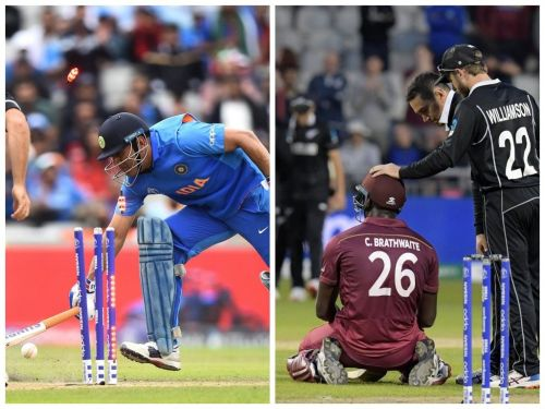 Dhoni and Brathwaite suffered heartbreaking moments in the tournament