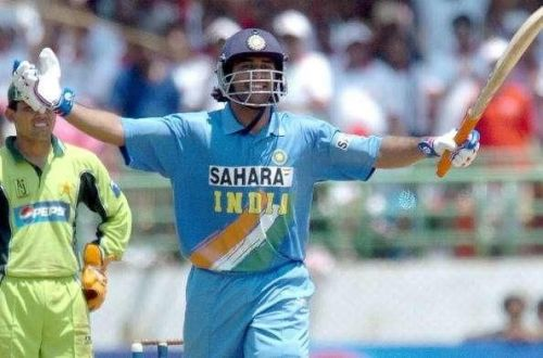 Dhoni captured the world's imagination with a whirlwind 148 against Pakistan