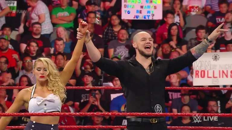 Lacey Evans defeated Natalya with the help of Baron Corbin