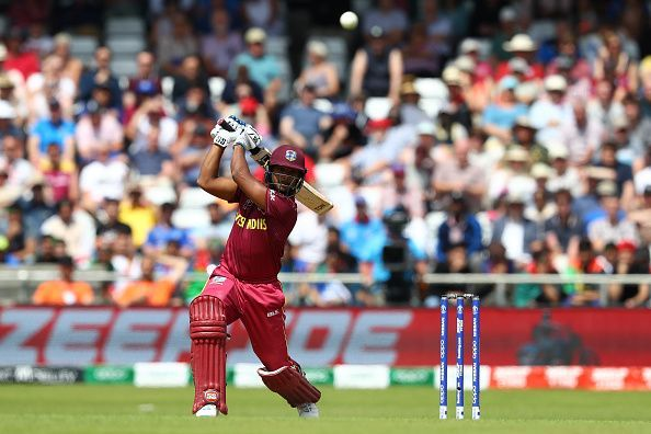 Nicholas Pooran in action during the World Cup.