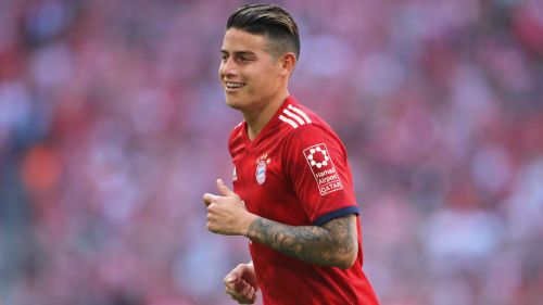 James Rodriguez playing for Bayern Munich