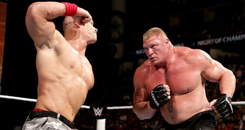 John Cena and Brock Lesnar
