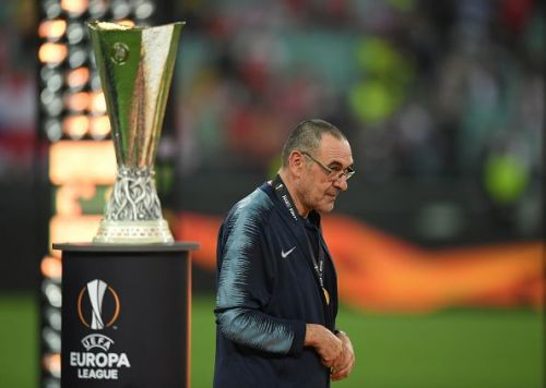 Sarri led Chelsea to the top four and won the Europa League