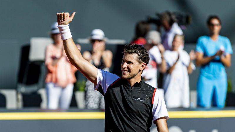 Dominic Thiem庆祝他的最新胜利