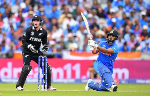 Rishabh Pant against New Zealand in the semifinal