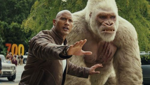 I'm sure the gorilla is welcome, but only the Rock will likely show up in October.