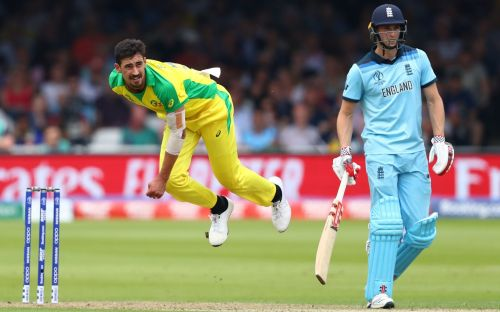 Starc took four wickets against England in the group game