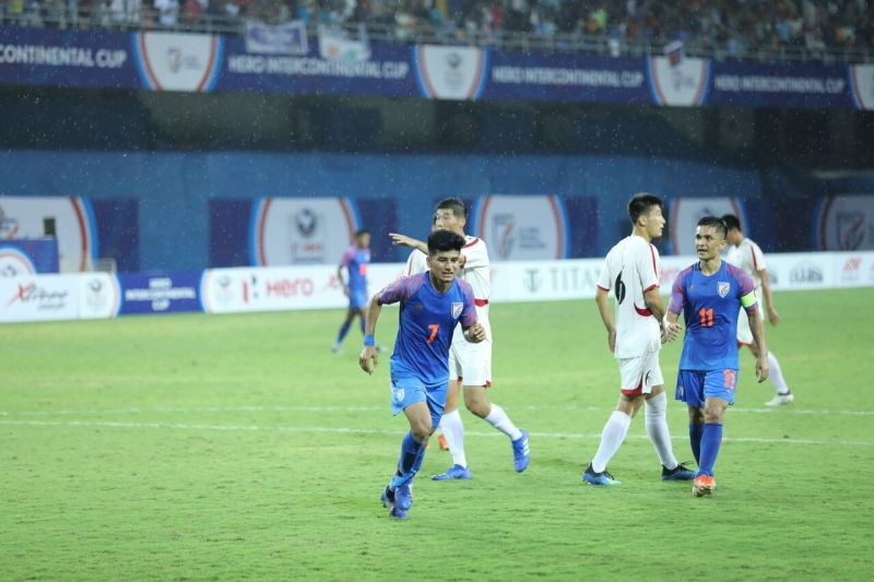Anirudh Thapa remained a silent, but pivotal presence on the field for India.