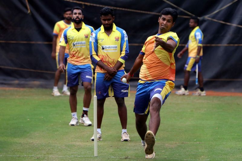 Dindigul Dragons are seen during a practice session