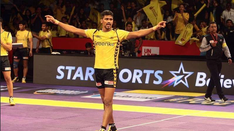 Nilesh Salunkhe played for Telugu Titans last year