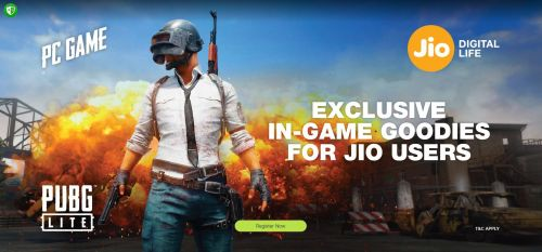 Reliance JIO users to get free in-game items in PUBG Lite
