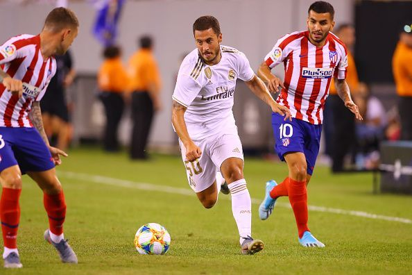 Hazard could only grab one assist against Atletico