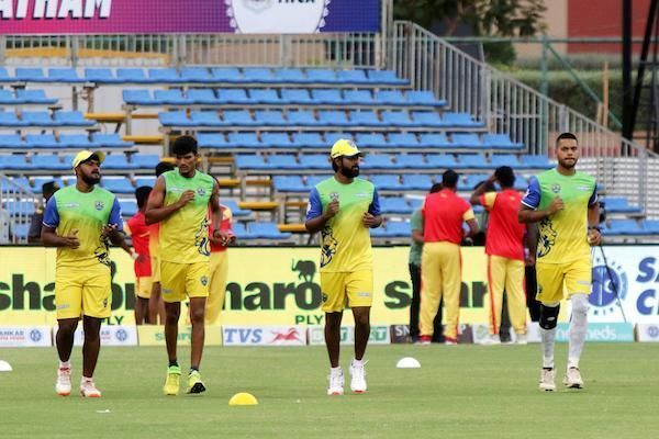 Lyca Kovai Kings team in practice session ahead of their clash against Chepauk Super Gillies