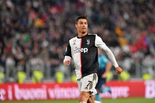 Cristiano Ronaldo in action for Juventus.