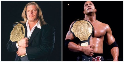 Triple H and the Rock dominated the Attitude Era along with Steve Austin.