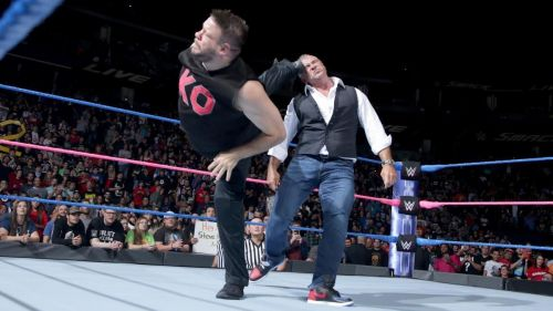Kevin Owens kicked Shane McMahon with his words on SmackDown.