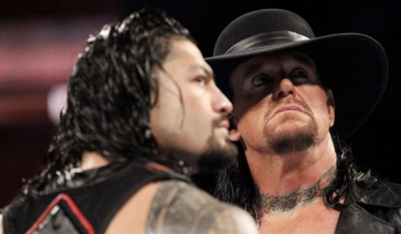 The Undertaker and Roman Reigns feuded heading into WrestleMania 33.