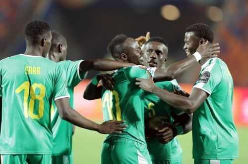 Senegal's Talisman, Sadio Mane, celebrates his game-winning strike