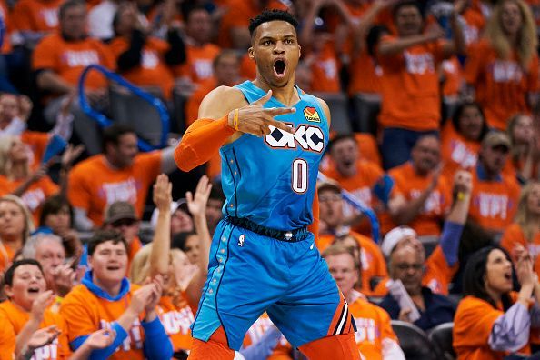 Westbrook was unable to guide the Thunder past the Portland Trail Blazers during the 2019 playoffs