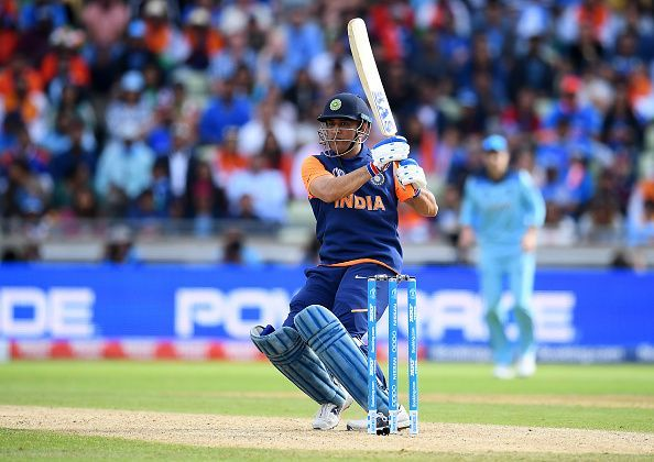 MS Dhoni has been using different bats in the World Cup.