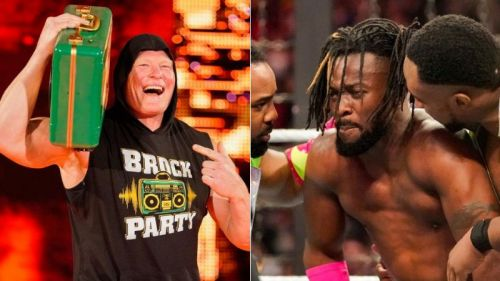 Brock Lesnar is allowed to cash in his Money In The Bank contract on Kofi Kingston