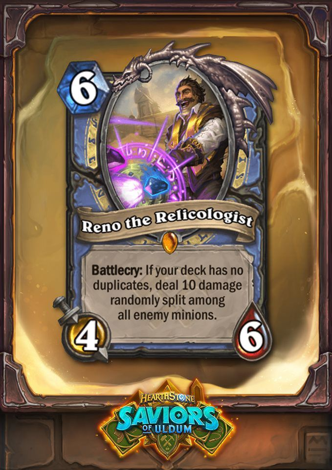 Reno is a Mage Legendary this time