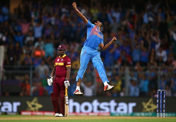 A moment from the 2016 World T20 semi-final between the West Indies and India.