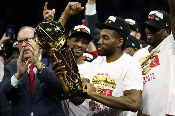 Kawhi Leonard helped to deliver a title to the Raptors during his first season in Toronto
