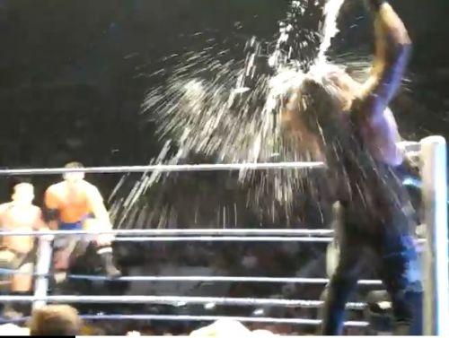 The Undertaker breaking character