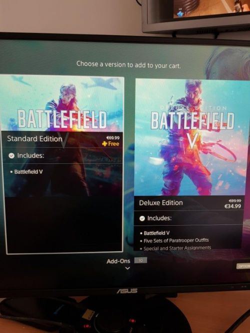 Battlefield V listed as free for the PS plus users
