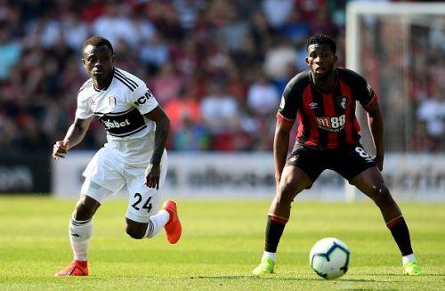 Jean Michael Seri in action against AFC Bournemouth - Premier League 2018-19