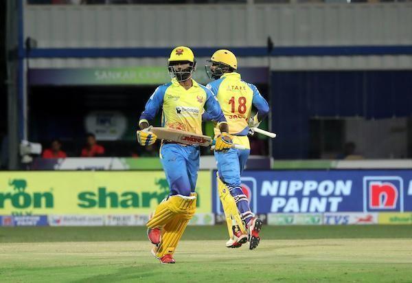 Jagadeesan N and Hari Nishaanth C had a good partnership in the middle worth 161 runs against iDream Karaikudi Kaalai